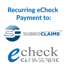 Recurring eCheck Payments